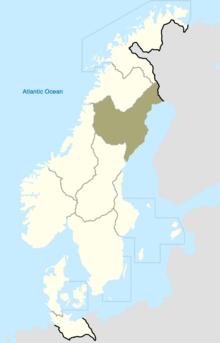 Lappland Map