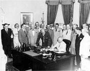 230px-Truman signing National Security Act Amendment of 1949-1-