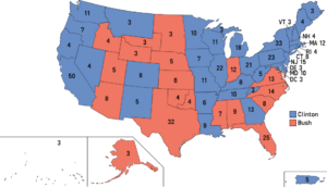 Election Map, 1992 (1861 HF)