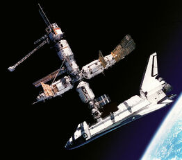 Atlantis Docked to Mir