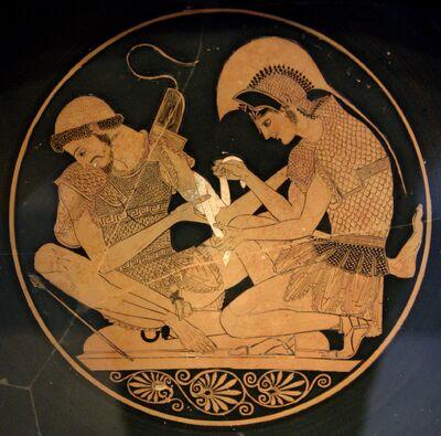 Akhilleus Patroklos Antikensammlung Berlin F2278