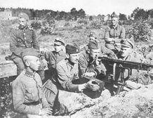 Polish-soviet war 1920 Polish defences near Milosna, August