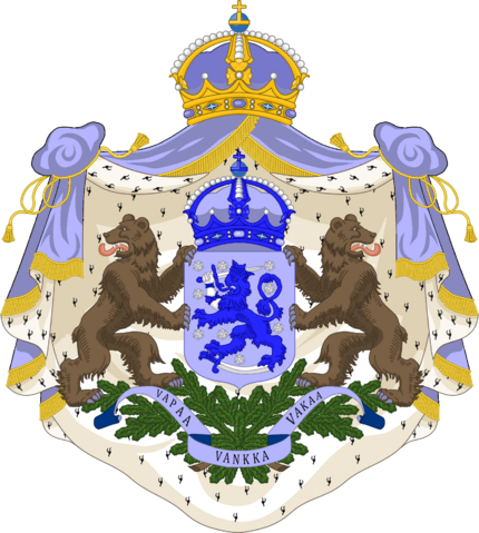 File:Greater Coat of Arms of the Empire of Finland by eric4e.png