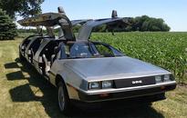 DeLorean limo open