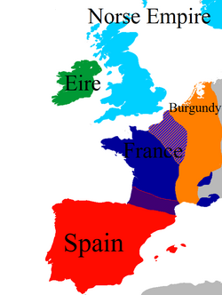 Map of Europe 1453-1458