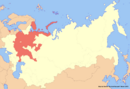 Location of Russia (New Union)