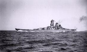 Yamato on way to Hawaii