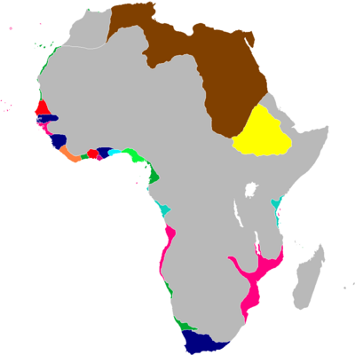 Scramble for Africa Map 1838