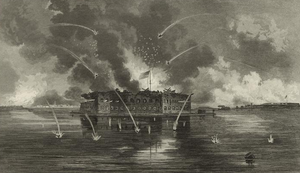 300px-Bombardment of Fort Sumter, 1861
