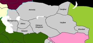 Khanates of central Asia 1533