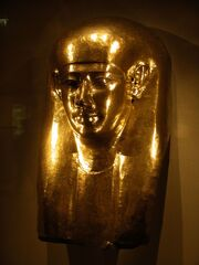 Egyptian funerary mask at the times of 30th dynasty (Gulbenkian Museum)