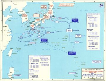 Operation Downfall - Map