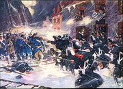 300px-Canadian militiamen and British soldiers repulse the American assault at Sault-au-Matelot