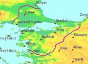 Byzantine empire in 1338