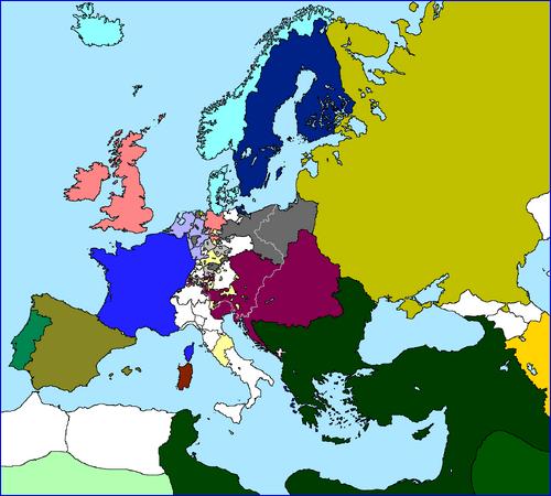 Map of Europe 1802 (Vive la Révolution!)