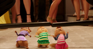 The Chipettes Limboing Police Batons