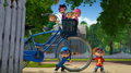 The Chipmunks and Chipettes with Dave's bike.png
