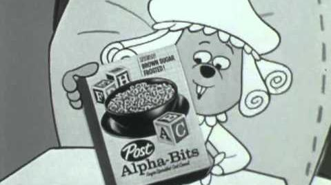 Alphabits commercial featuring Alvin and The Chipmunks