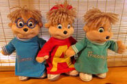 The Chipmunks Starshine plushies