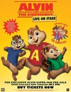 Alvin and the Chipmunks Live On Stage Poster