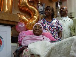 Gertude Baines turns 115