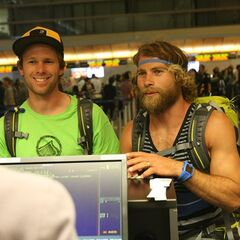 Andy &amp; Tommy at the airport in <a href=