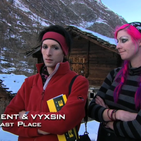 Kent & Vyxsin were eliminated from the race in 5th place after a critical mistake.
