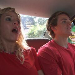 Sheri &amp; Cole in a cab during <a href=