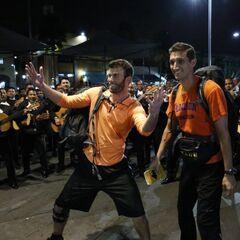 Brodie &amp; Kurt doing the <i>Mariachi Madness</i> Detour in Leg 1.