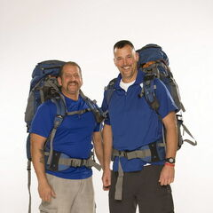 Louie &amp; Michael's alternate promotional photo for <i>The Amazing Race</i>.