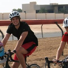 Sheri &amp; Cole about to do the <i>Races</i> Detour in <a href=