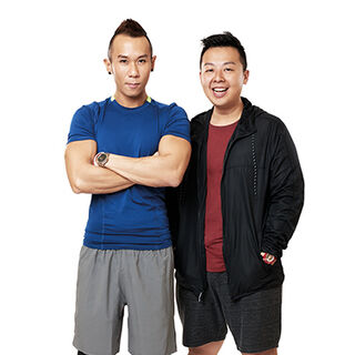 An alternate promotional photo of JK &amp; Mike for <i>The Amazing Race Asia</i>.
