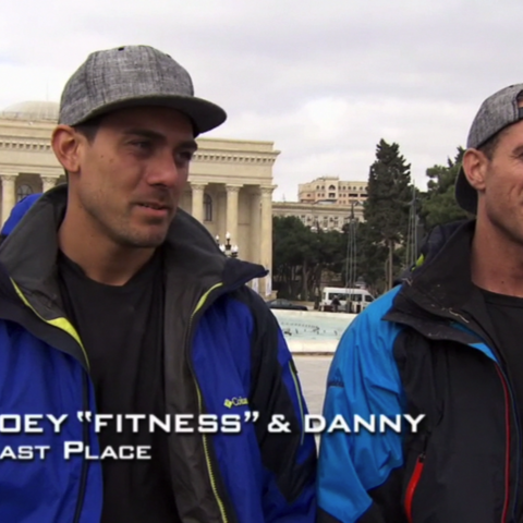 Joey & Danny were eliminated from the race in 7th Place after unable to recover from losing the Fast Forward.