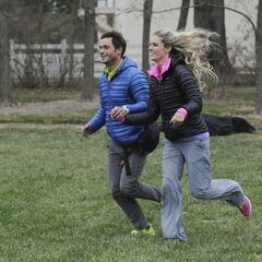Max &amp; Katie running to the <a href=