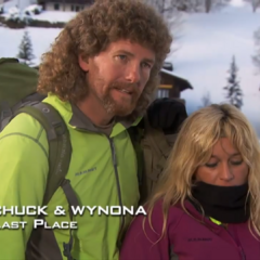 Chuck & Wynona were eliminated from the race in 6th Place after not using the sleds provided for them for the Cheese Hill task.
