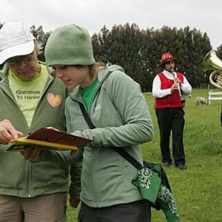 Jody &amp; Shannon reading the <a href=