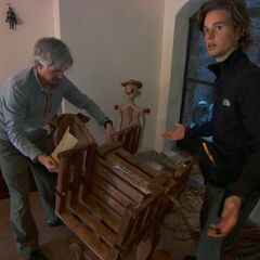 Dave &amp; Connor doing the <i>Donkey Build</i> Detour as a result of being <a href=
