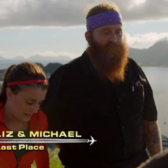 Liz &amp; Michael are the last team to arrive on <a href=