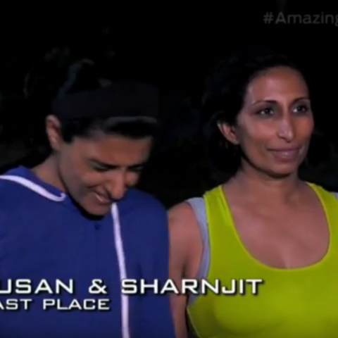 Susan & Sharnjit were eliminated from the race in 11th place.