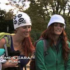 Jaime & Cara were eliminated from the race in 9th Place after a exhausting Roadblock.