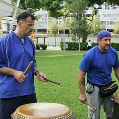Louie &amp; Michael doing the <i>Pound the Drums</i> Detour in <a href=