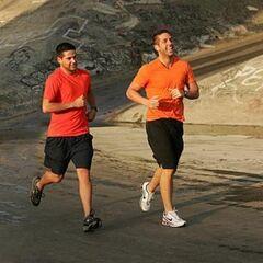 Sam &amp; Dan running to the <a href=