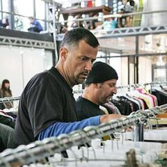 Louie &amp; Michael looking for cloths matching a fashion designer's design during <a href=
