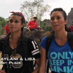 Kaylani & Lisa were eliminated from the race in 9th Place.