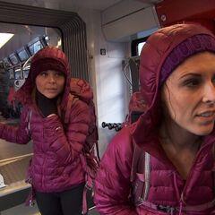 Erin & Joslyn on the Train.