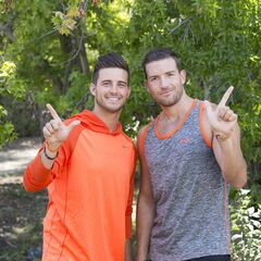 An alternate promotional photo of Tanner &amp; Josh for <i>The Amazing Race</i>.