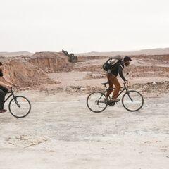 Brandon &amp; Adam bicycling on <a href=