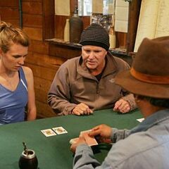 Steve &amp; Allie playing poker during <a href=
