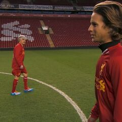 Dave &amp; Connor at Anfield Stadium in <a href=