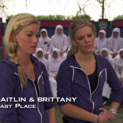 Caitlin & Brittany were eliminated from the race in 9th Place.
